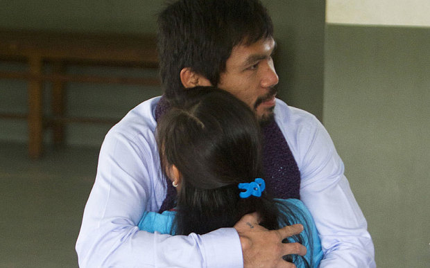 Boxing Legend Manny Pacquiao visits Mary Jane Veloso a Filipina on Death Row in Indonesia