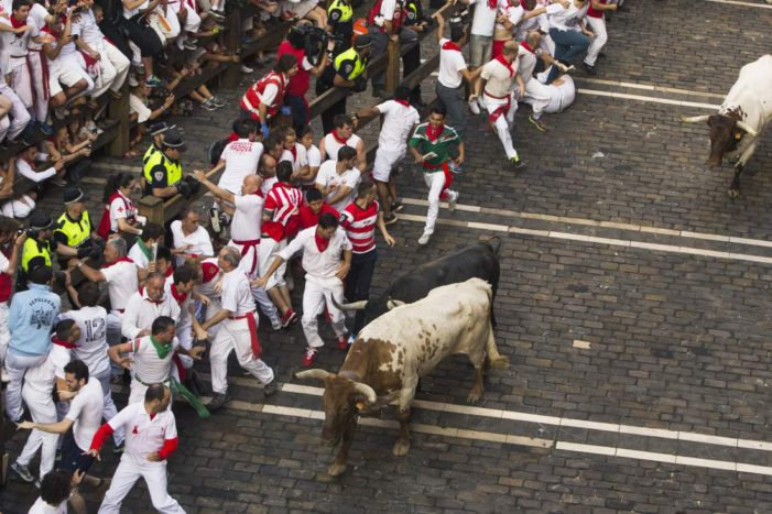 Briton and Two Americans Gored in Spanish Bull Running Festival