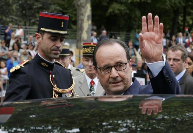 French President Francois Hollande Calls for Euro Zone Parliament