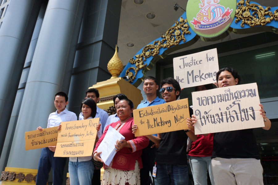 Lawyers representing the Thai community members who filed the case against the Xayaburi Dam