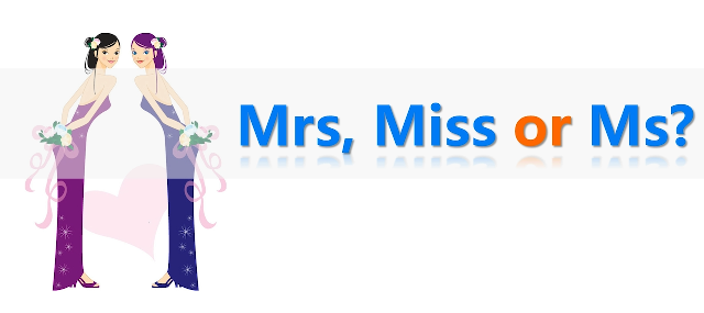 Jen's English Tip's – Using Miss Mrs and Ms