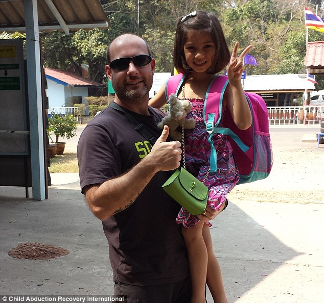 CARI founder Adam Whittington with Natasha, shortly after they returned her to her father in Australia