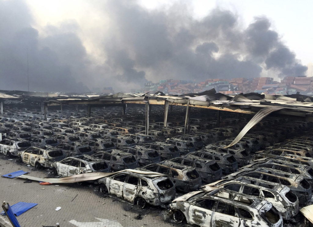 Deadly aftermath of Chinese port blasts