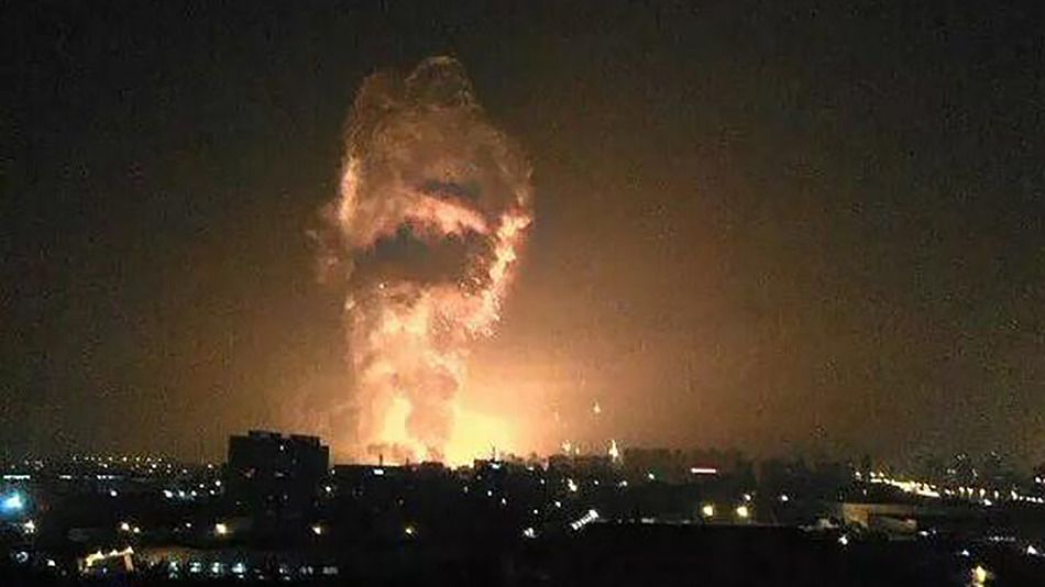 An explosion happens in China's Tianjin port