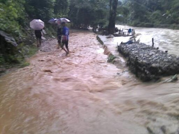 Weeks of non-stop heavy rain have caused flash flooding throughout Burma and northern Thailand