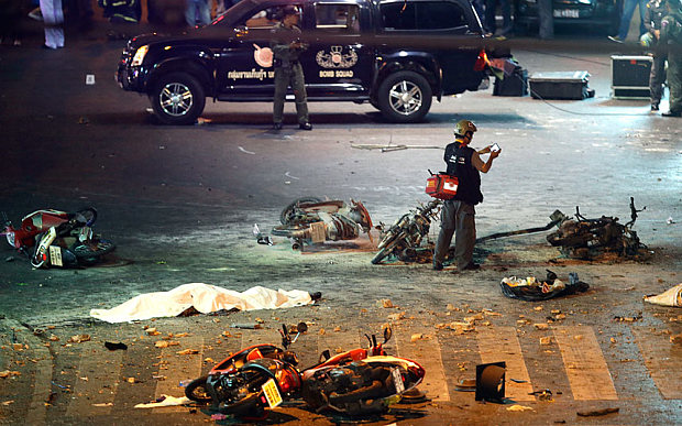 Blast Death toll Reaches 27 in Central Bangkok, 4 Foreign Tourists Confirmed Dead