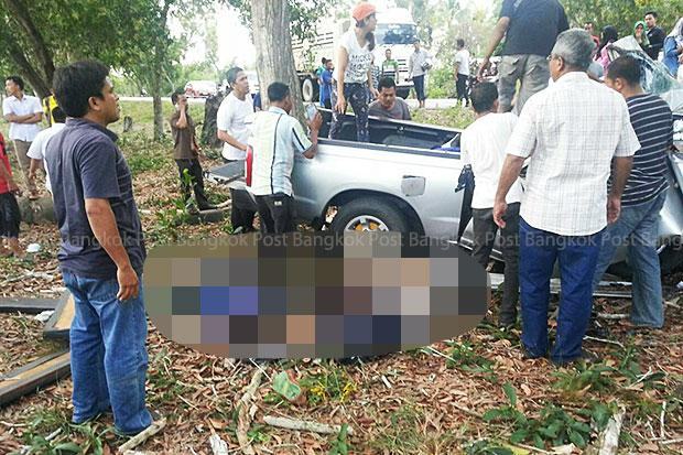 Nine Young Students Dead in Narathiwat after Pickup Crashes