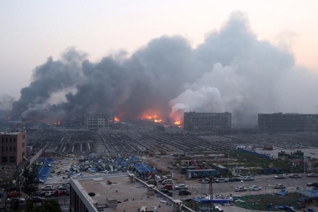 As daylight broke over the port city of Tianjin, the region resembled a war zone