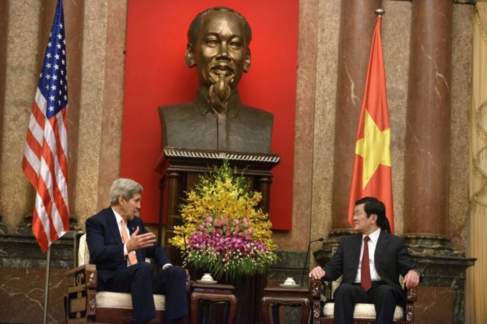 U.S. Secretary of State John Kerry, Celebrates 20th Anniversary of Normalized Relations with Vietnam