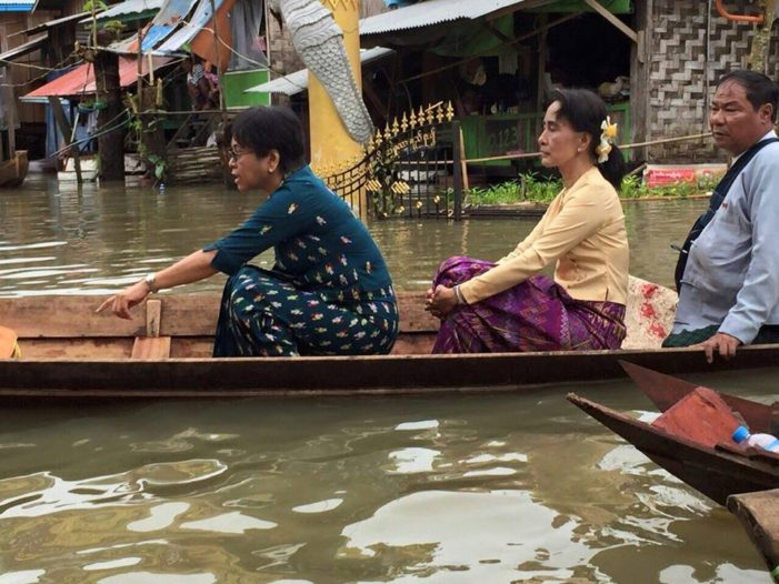 Myanmar's Aung San Suu Kyi asks for International Assistance for Flood Victims