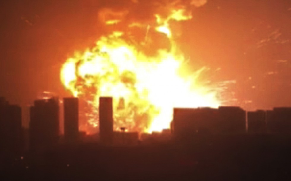 Hundreds of people were injured in the explosions shortly before midnight Wednesday