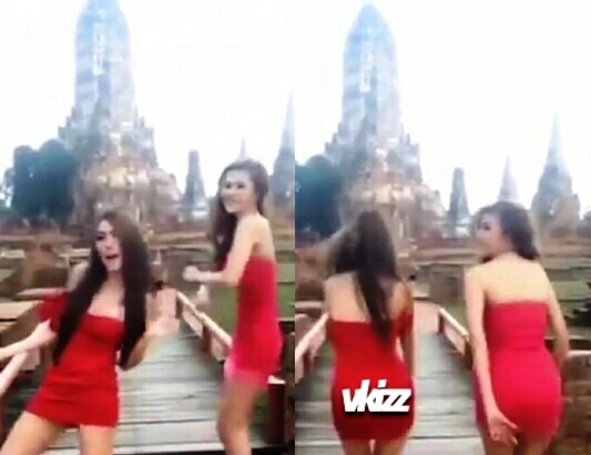 Girls Sexy YouTube Video at Ayutthaya's Wat Chaiwatthanaram drawn the wrath of Netizens and Authorities