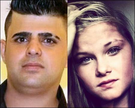 Lisa Borch and her Iraqi Kurdish radical Muslim boyfriend Bakhtiar Mohammed
