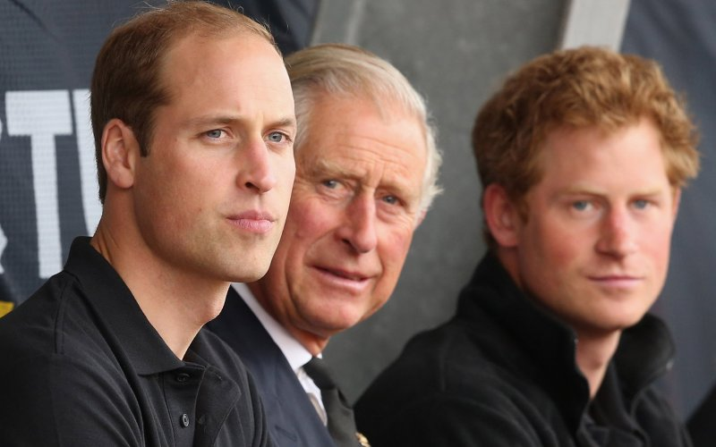 William, Charles and Harry in London