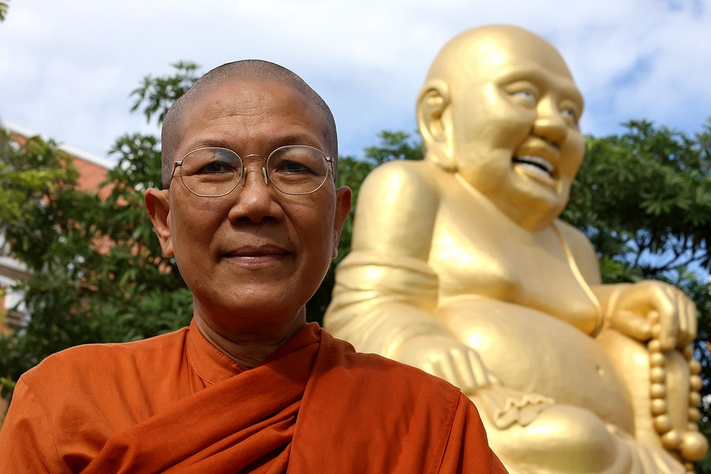 Chatsumarn Kabilsingh, an author, former university professor and the first bhikkhuni in Thailand