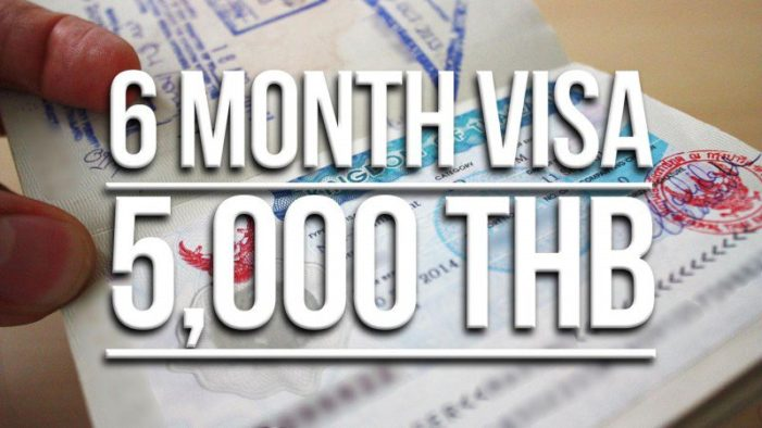 Thai Immigration Introduces New 6 Month Multiple Entry Tourist Visa