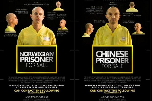ISIS Tries Selling Chinese and Norwegian Hostages Via Twitter