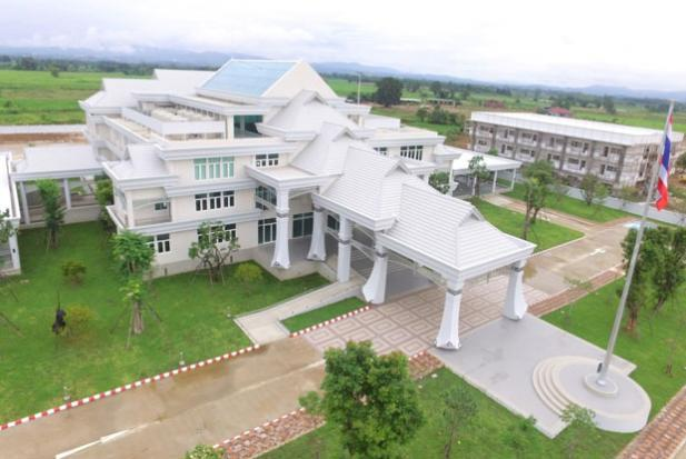 The aerial view of the new Chiang Khong customs office building opened on Wednesday to serve rising border trade with Laos and China