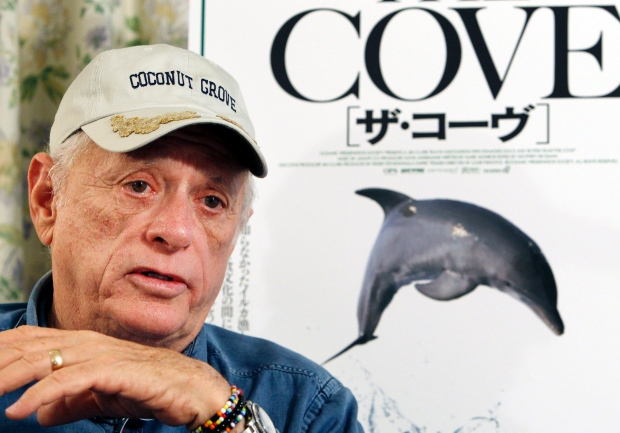 Ric O'Barry, whose efforts to save dolphins is documented in the Oscar-winning film 'The Cove,' speaks during an interview in Tokyo
