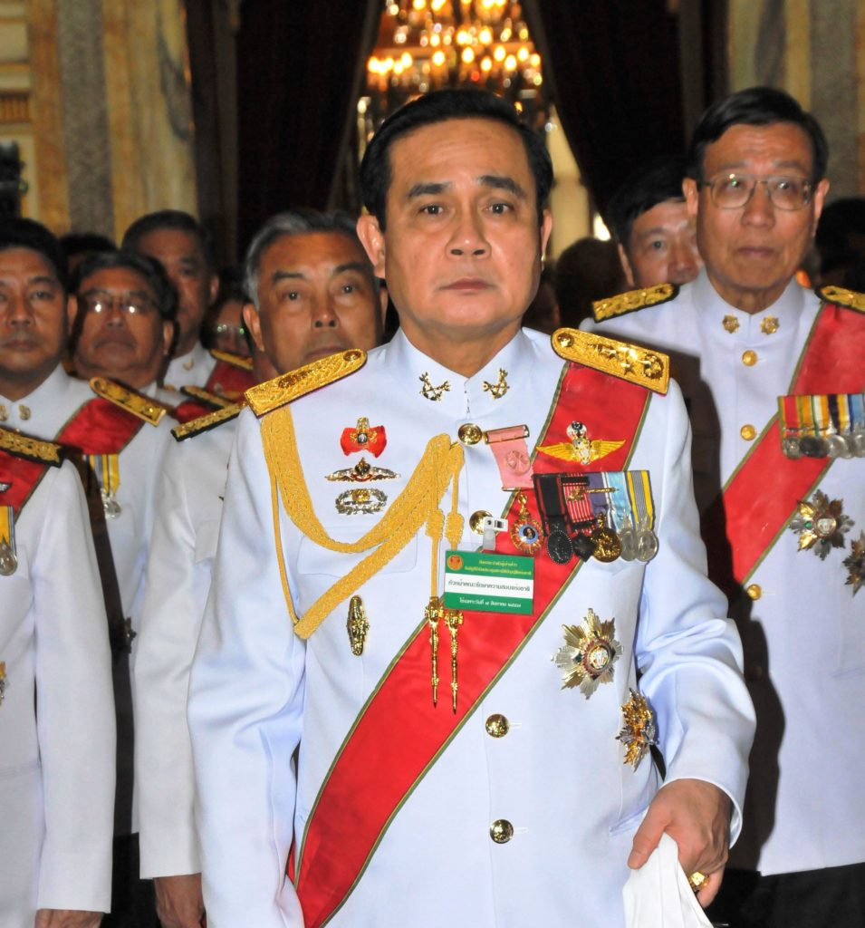 Thai Army chief General Prayuth Chan-ocha attends the inauguration ceremony of the National Legislative Assembly at the Ananta Samakhom Throne Hall