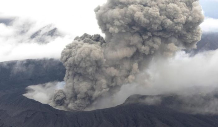 Japan's Mount Aso on the Southern Island of Kyushu Erupts