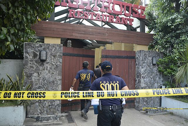 Lighthouse Restaurant along Mango Ave., Cebu City temporarily closed to the public, following a shooting