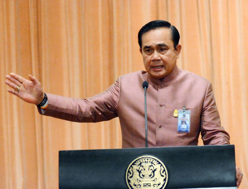 Prime Minister Prayut Chan-O-Cha said the kingdom must counter online dissent and royal defamation.
