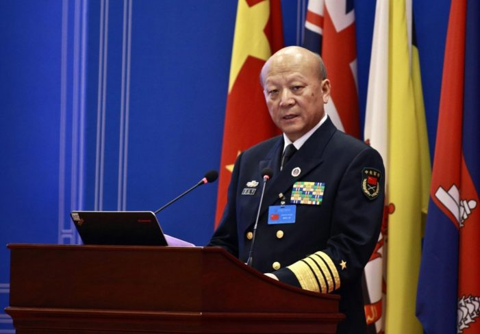 China's Top Admiral Says Minor Incident in South China Sea Could Spark a War