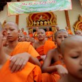 """The Wat Kreung Tai Wittaya temple has been running a course to teach """"masculinity"""" to transgender teens since 2008."""