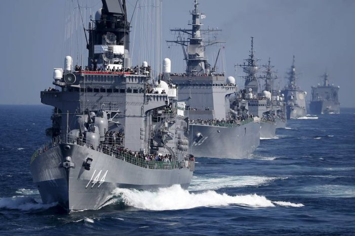 Japan Flexes Navy Muscles in Regional Fleet Review