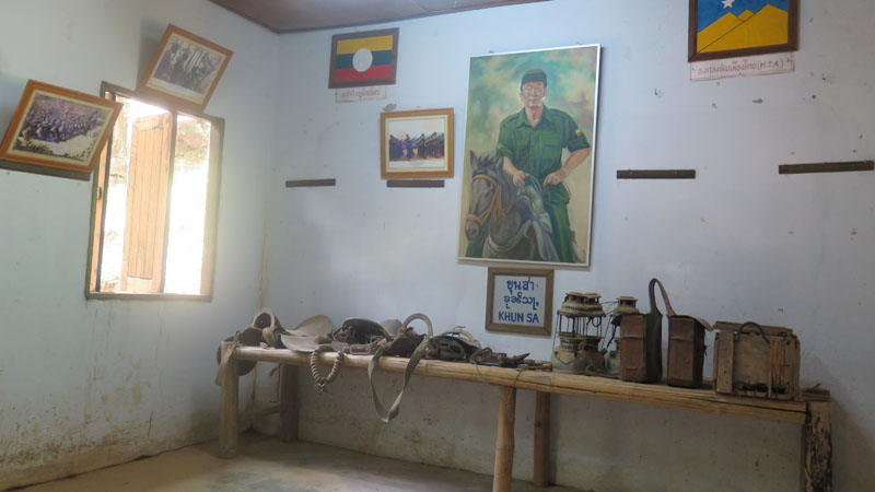 Inside Khun Sa's own spartan quarters, mementos of the late militia leader's life have been hung on display as relics.