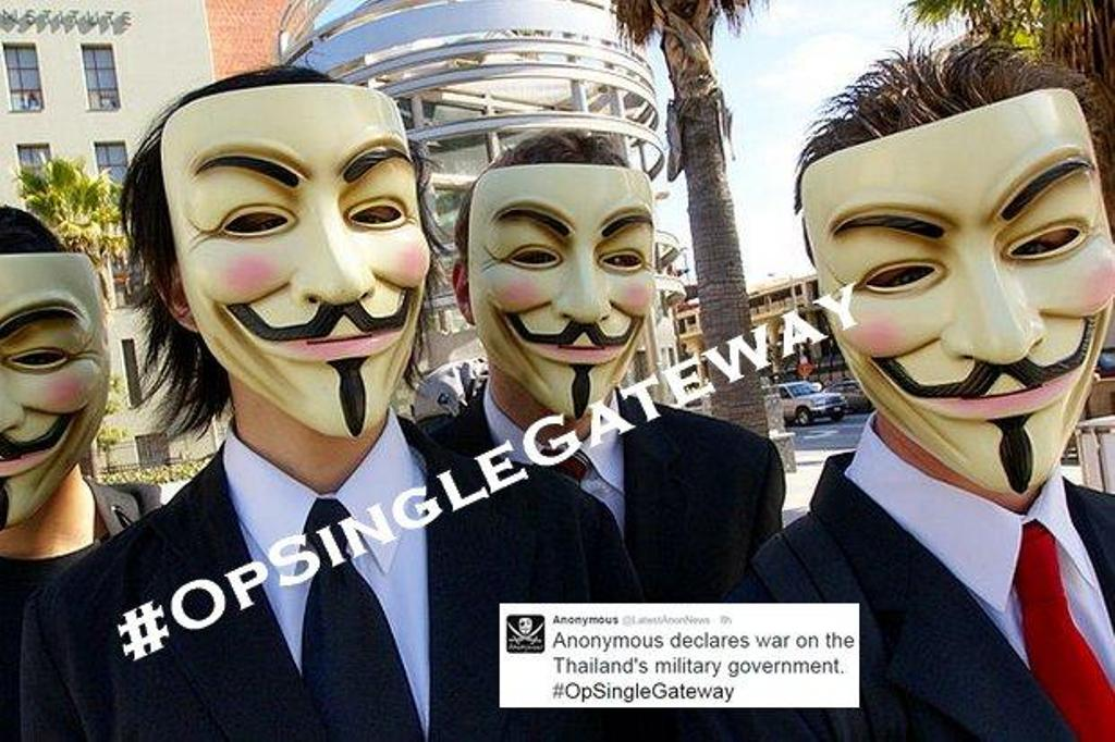International Hackers Group Anonymous Strike Thai Government Sites