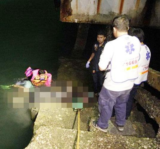 Fisherman Reels in Body of Foreigner at Pattaya Pier