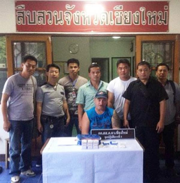 German National Thomas Leiner Arrested in Chiang Mai for Drug Trafficking