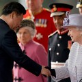 HM Queen Elizabeth II greets Chinese President Xi Jinping at Horseguards