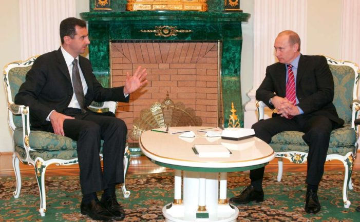 Assad flies to Moscow to thank Russia's Putin