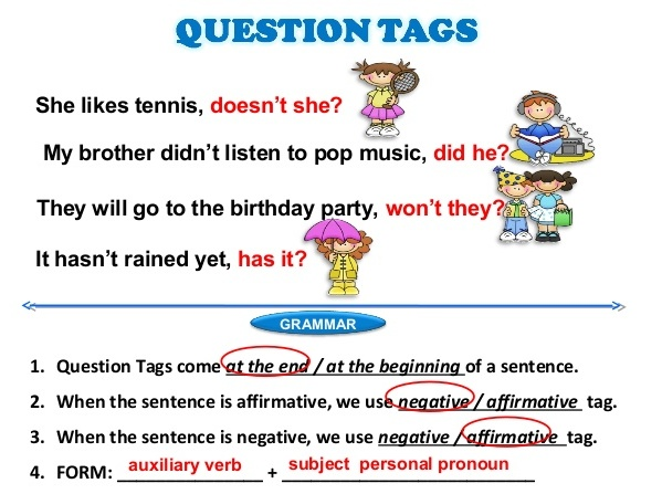 Image result for question tags in english grammar