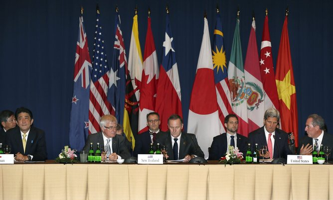 Trans-Pacific Partnership,12 Pacific Rim Nations to set up a free-trade zone