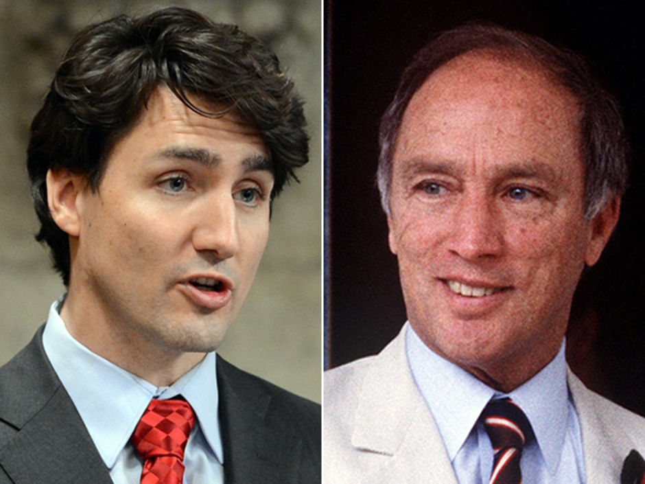 Justin Trudeau and Pierre Trudeau: There are both similarities and profound differences between father and son