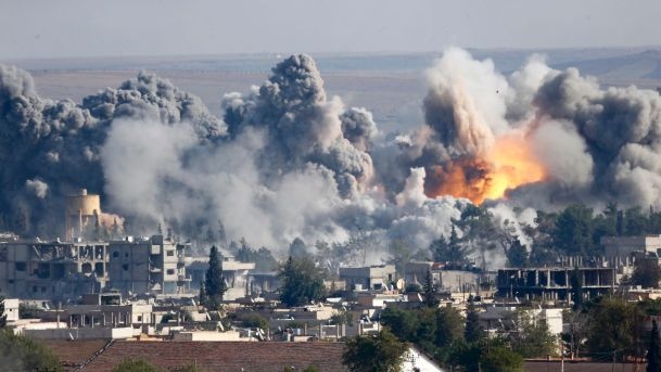 Russia and France are pounding the Islamic State's Syrian stronghold