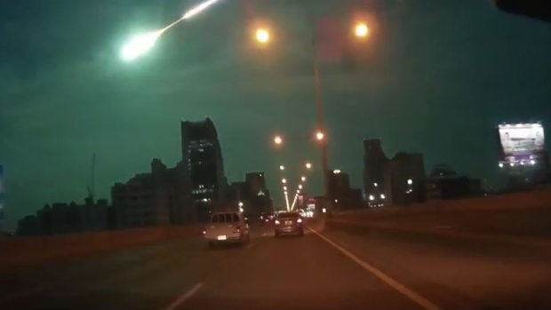 The dramatic meteor is seen in several dashcam videos captured by vehicles in Bangkok just before 9 p.m. local time (9 a.m. ET). (YouTube)