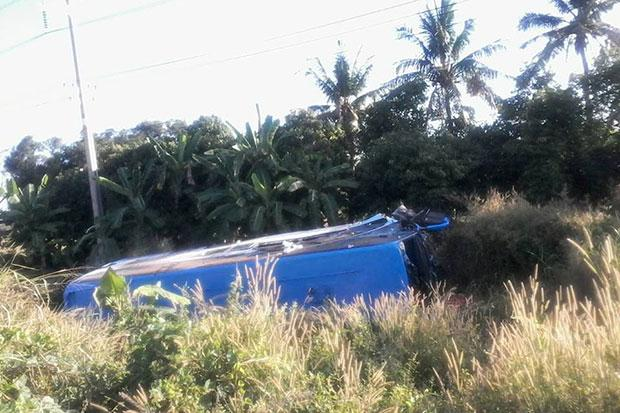 The driver said he fell asleep at the wheel while passing through Chaiyo district