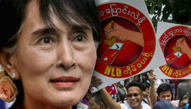 more than 80% of contested seats now declared, Aung San Suu Kyi's party has more than the two-thirds it needs to choose the president, ending decades of military-backed rule.