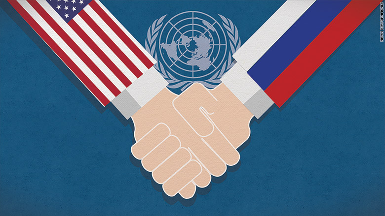 In a rare show of solidarity, the United States and Russia joined forces at the United Nations on Thursday to fight against the flow of money to ISIS