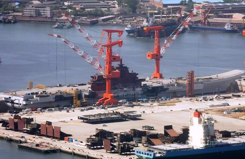 Eastern European source familiar with the aircraft carrier project said China had invested 35 billion yuan (US$5.1 billion) in the facilities at Changxing Island