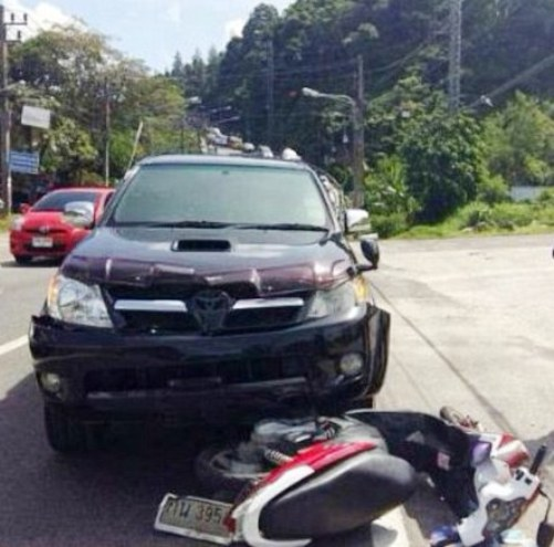 the crash occurred on a road on the 'notoriously dangerous' Patong Hill in Phuket Read more: http://www.dailymail.co.uk/travel/travel_news/article-3357126/British-holidaymaker-killed-motorcycle-crash-Thailand.html#ixzz3u71IAftx Follow us: @MailOnline on Twitter | DailyMail on Facebook