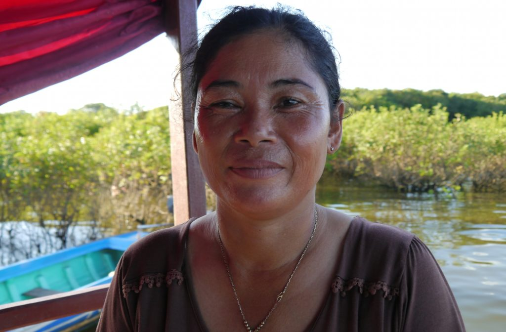 Savon Pen, 42, a fisherwoman from Kampong Phluk commune
