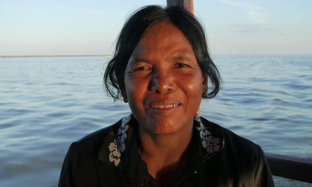 Vey Kuang, 54, who has lived and fished at Tonl� Sap lake all her life