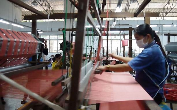 Weaver works at Doi Tung project in Thailand