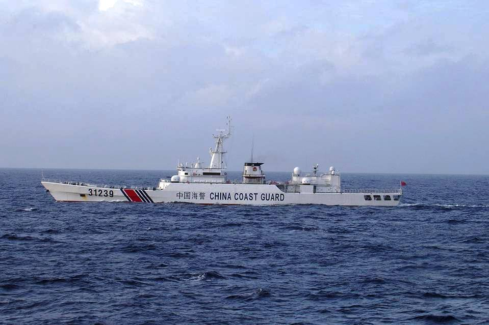 China Coast Guard vessel No. 31239 sails in the East China Sea near the disputed isles known as Senkaku isles in Japan and Diaoyu islands in China, in this handout photo taken and released by the 11th Regional Coast Guard Headquarters-Japan Coast Guard December 22, 2015.